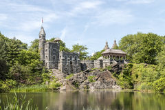 Belvedere Kasteel in Central Park, NYC Stock Afbeelding