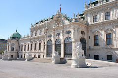 Belvedere Kasteel in Wenen Royalty-vrije Stock Foto's