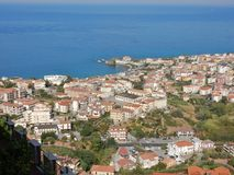 Belvedere Marittimo - Panorama from the castle royalty free stock photos