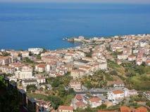 Belvedere Marittimo - Panorama van het kasteel royalty-vrije stock foto's