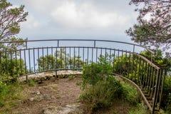 Belvedere Migliera em Anacapri na ilha de Capri, Itália imagem de stock