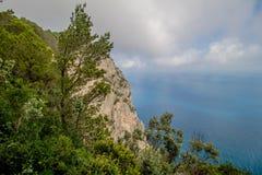 Belvedere Migliera em Anacapri na ilha de Capri, Itália fotografia de stock royalty free