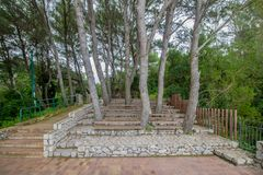 Belvedere Migliera em Anacapri na ilha de Capri, Itália foto de stock
