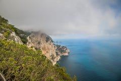 Belvedere Migliera em Anacapri na ilha de Capri, Itália imagens de stock