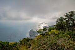 Belvedere Migliera em Anacapri na ilha de Capri, Itália foto de stock royalty free