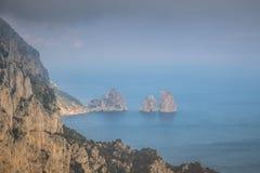 Belvedere Migliera em Anacapri na ilha de Capri, Itália imagem de stock royalty free
