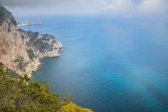 Belvedere Migliera em Anacapri na ilha de Capri, Itália imagens de stock royalty free