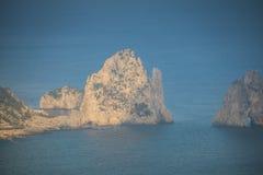 Belvedere Migliera em Anacapri na ilha de Capri, Itália fotos de stock