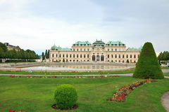 Belvedere palace. View on Belvedere palace, Vienna, Austria Stock Photo