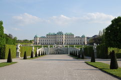 Belvedere Palace. Belvedere Superios Palace in Vienna Austria Royalty Free Stock Images