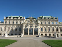 Belvedere palace. Baroque style Belvedere palace in Vienna Royalty Free Stock Photography