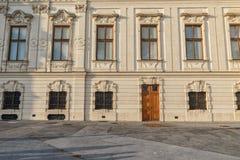Belvedere Palace Besichtigungs-Gegenstand in Wien, Österreich stockfoto