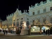 Belvedere Palace Christmas Village in Vienna, Austria Stock Photos