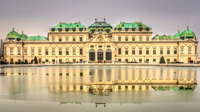 Belvedere Palace in cloudy day Royalty Free Stock Photography