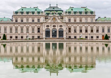 Belvedere Palace in cloudy day. Vienna, Austria Stock Image