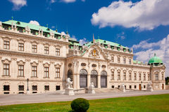 Belvedere  a palace complex in Vienna Royalty Free Stock Photos