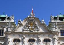 Belvedere Palace façade detail Stock Photos
