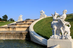 Belvedere Palace Fountain Royalty Free Stock Photo