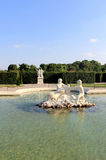 Belvedere Palace fountain and garden Stock Photo