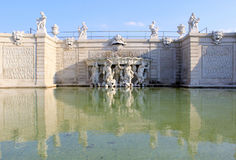 Belvedere Palace fountain and garden Royalty Free Stock Photography