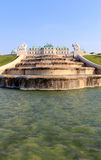 Belvedere Palace fountain and garden Royalty Free Stock Photos