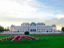 Belvedere palace and garden Royalty Free Stock Photos