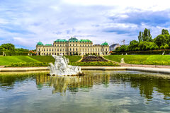 Belvedere palace and garden in Vienna, Austria Royalty Free Stock Image