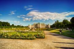 Belvedere Vienna stock photos