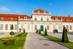 Belvedere Palace and garden in Vienna.  Austria. Stock Photo