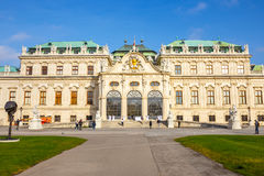 Belvedere Palace and garden in Vienna. The Main palace - Upper Belvedere. Austria. Stock Images