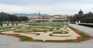 Belvedere Palace Gardens Stock Photography