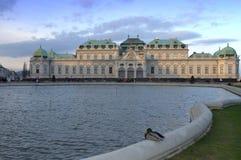 Belvedere Palace idyllic view Vienna Stock Image
