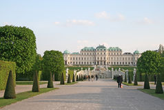 Belvedere Palace and the palace garden in Vienna, Austria Stock Image