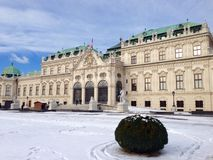 Belvedere Palace Snowy Day Royalty Free Stock Photos