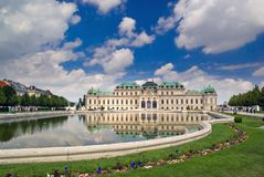 Belvedere Palace in Vienna. Austria Royalty Free Stock Photos