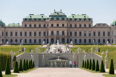 Belvedere Palace Vienna Stock Photo