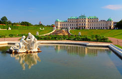 Belvedere Palace in Vienna Royalty Free Stock Photography