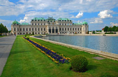 Belvedere Palace, Vienna. View of Belvedere Palace, Vienna, Austria Royalty Free Stock Photo