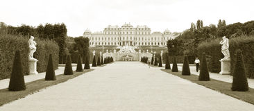 Belvedere Palace in Vienna, Austria Royalty Free Stock Images