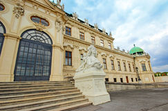Belvedere Palace in Vienna. Austria Royalty Free Stock Photo