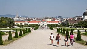 Belvedere Palace In Vienna stock video footage