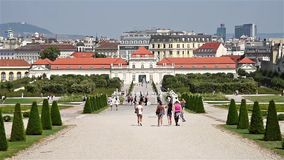 Belvedere Palace In Vienna stock video
