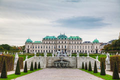 Belvedere palace in Vienna, Austria on a cloudy day Stock Photography