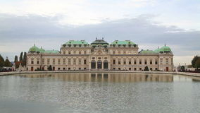 Belvedere palace in Vienna, Austria on a cloudy day stock video