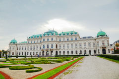 Belvedere palace in Vienna, Austria in the morning Royalty Free Stock Image