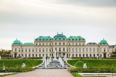 Belvedere palace in Vienna, Austria in the morning Royalty Free Stock Images