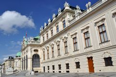 Belvedere Palace, Vienna, Austria stock photography