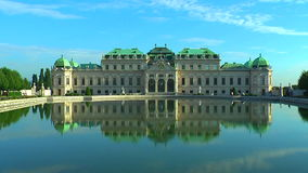 Belvedere Palace in Vienna, Austria stock video