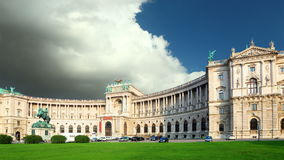 Belvedere Palace in Vienna - Austria, Time lapse. stock footage
