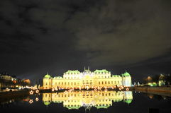 Belvedere palace - Vienna by night Stock Photos